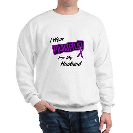 I Wear Purple For My Husband 8 Sweatshirt
