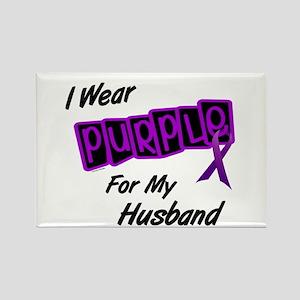 I Wear Purple For My Husband 8 Rectangle Magnet