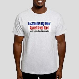 Responsible Dog Owner Ash Grey T-Shirt