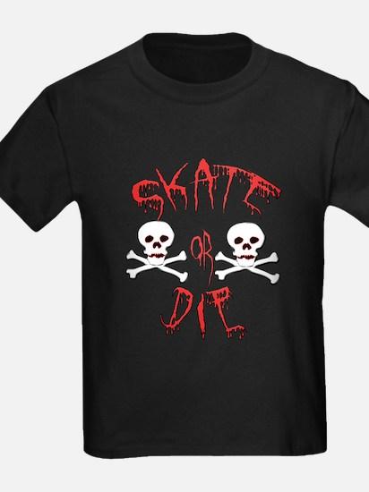 Skate or Die Skulls T