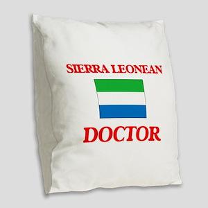 Sierra Leonean Doctor Burlap Throw Pillow