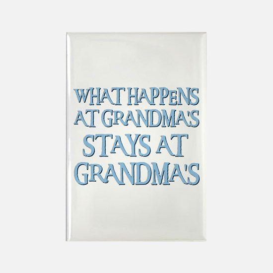 STAYS AT GRANDMA'S (blue) Rectangle Magnet