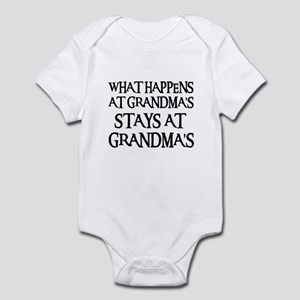 STAYS AT GRANDMA'S (blk) Infant Bodysuit