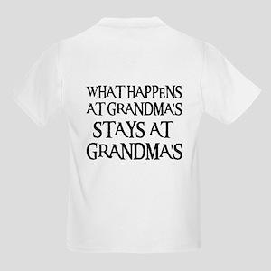 STAYS AT GRANDMA'S (blk) Kids Light T-Shirt
