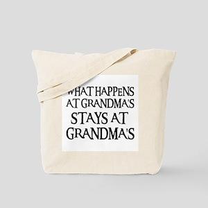 STAYS AT GRANDMA'S (blk) Tote Bag
