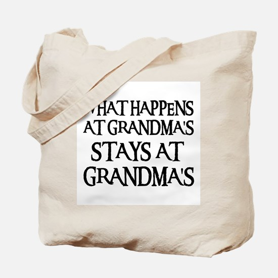 STAYS AT GRANDMA'S (blk) Tote Bag