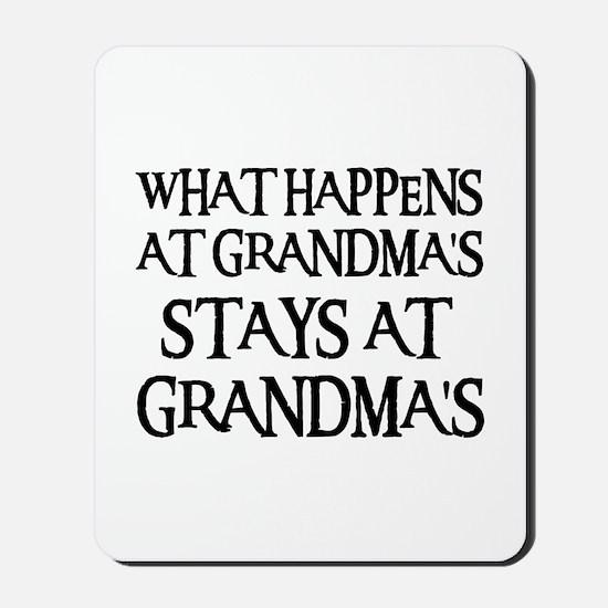 STAYS AT GRANDMA'S (blk) Mousepad
