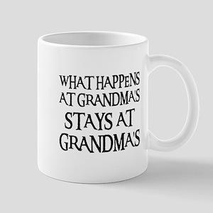 STAYS AT GRANDMA'S (blk) Mug