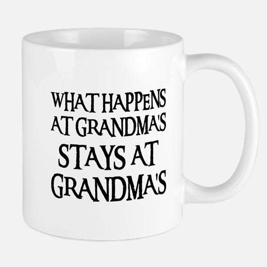 STAYS AT GRANDMA'S (blk) Mug