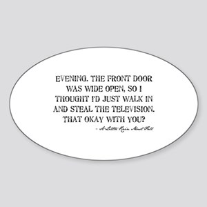 Television Quote Oval Sticker