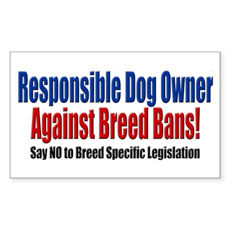 Responsible Dog Owner Rectangle Sticker
