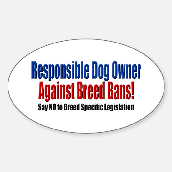 Responsible Dog Owner Oval Decal