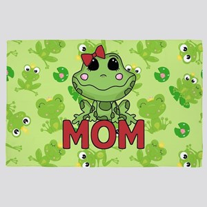 Mom Green Frog Mothers Day 4' x 6' Rug