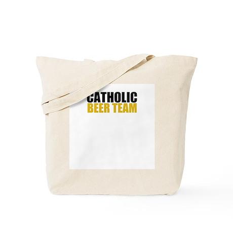 Catholic Beer Team Tote Bag