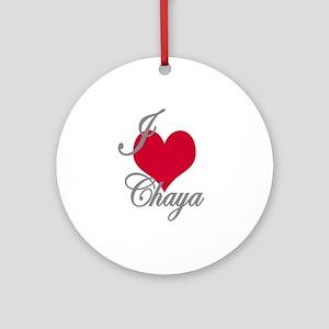 I love (heart) Chaya Ornament (Round)