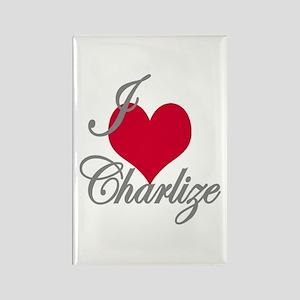 I love (heart) Charlize Rectangle Magnet
