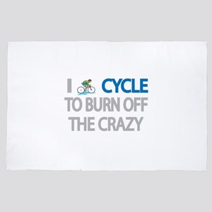 I CYCLE TO BURN OFF THE CRAZY 4' x 6' Rug