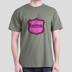Female Doctor's Badge Dark T-Shirt
