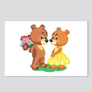 Young Love Teddy's Postcards (Package of 8)
