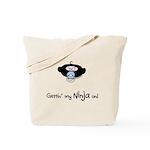 Rude lil dude ninja Tote Bag