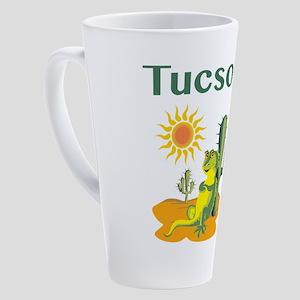 Tucson Lizard under Cactus 17 oz Latte Mug