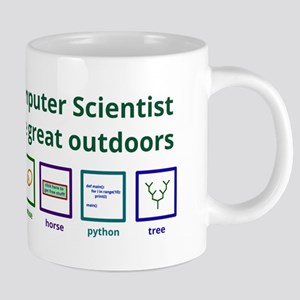 A computer scientist in the great outdoors Mugs