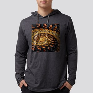 Black and Yellow Spiral Fracta Long Sleeve T-Shirt