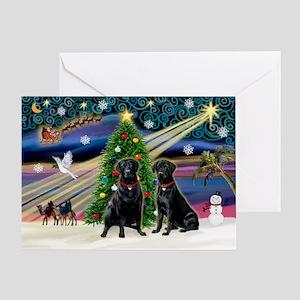 Xmas Magic & Lab PR Greeting Card