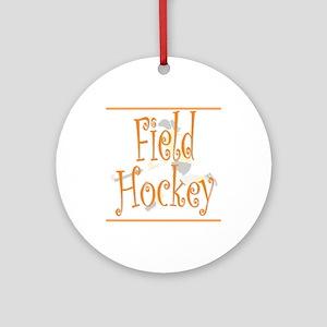 Field Hockey - Orange - Keepsake (Round)