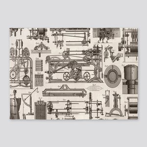 engineering industrial machine stea 5'x7'Area Rug