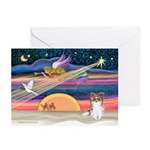XmasStar/Papillon (s) Greeting Cards (Pk of 20)