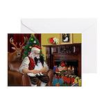 Santa's Papillon Greeting Cards (Pk of 10)