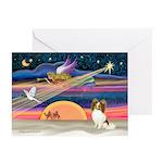 Xmas Star/Papillon Greeting Cards (Pk of 10)