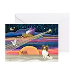 Xmas Star/Papillon Greeting Cards (Pk of 20)