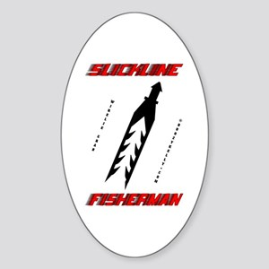 Slickline Fisherman Oval Sticker