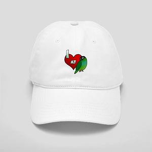 I Love My Nanday Conure Hat (Cartoon)