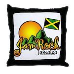Welcome to JamRock, Jamaica Throw Pillow