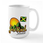 Welcome to JamRock, Jamaica Large Mug