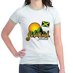 Welcome to JamRock, Jamaica Jr. Ringer T-Shirt