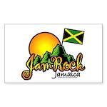 Welcome to JamRock, Jamaica Rectangle Sticker
