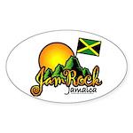 Welcome to JamRock, Jamaica Oval Sticker