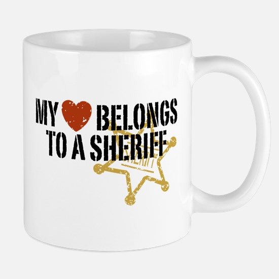 My Heart Belongs to a Sheriff Mug