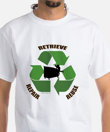 3 Rs of dumpster diving White T-Shirt