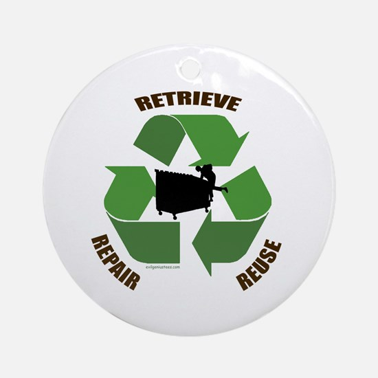 3 Rs of dumpster diving Ornament (Round)