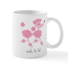 ooh la la poodle mug