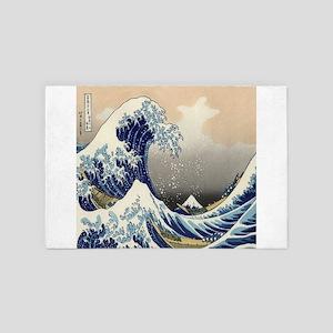 japanese ukiyo great wave 4' x 6' Rug
