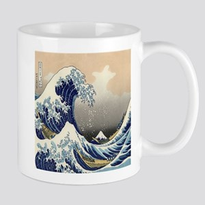 japanese ukiyo great wave Mugs