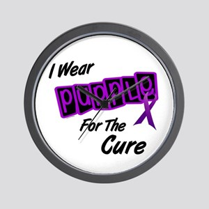 I Wear Purple For The Cure 8 Wall Clock