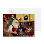 Santas Dachshund Greeting Cards (Pk of 10)