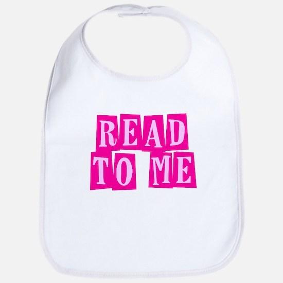 Pink Read to Me Bib